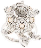 Oscar de la Renta Crystal Turtle ring