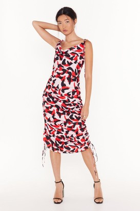Nasty Gal Womens So Bold Abstract Midi Dress - Pink