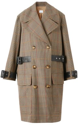 Burberry Houndstooth Check Wool Coat
