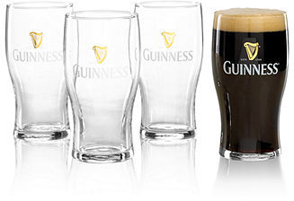 Guinness Luminarc Gold Logo Pint Glass, Set of 4