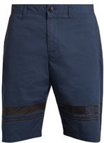 Stone Island Striped-hem Stretch-cotton Shorts