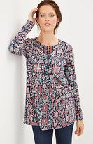 J. Jill Tapestry-Print Knit Top