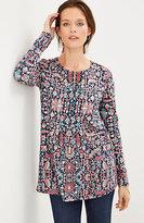 J. Jill Tapestry-Print Knit Top