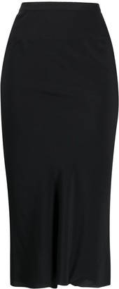 Rick Owens Ribbed Knit Stretch Skirt