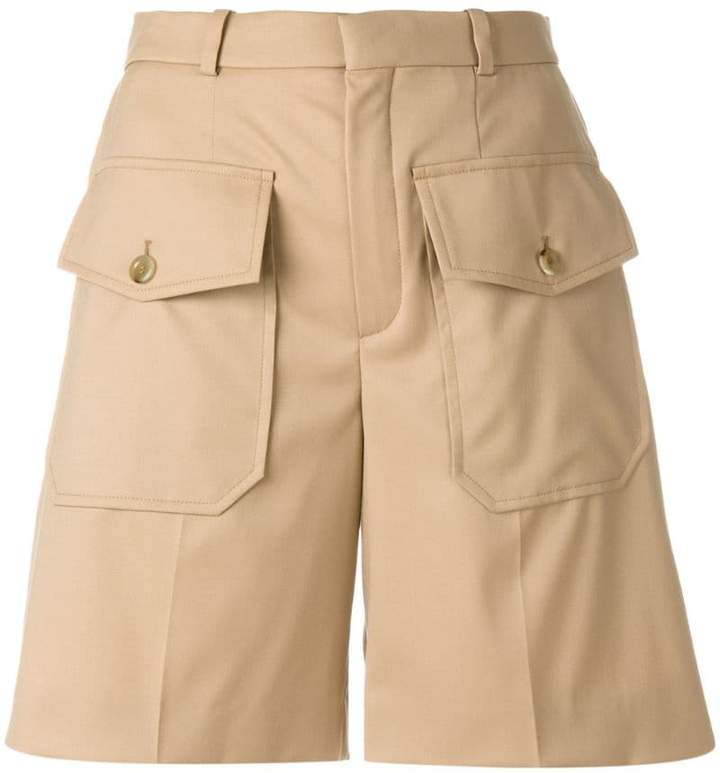Chloé double flap pocket shorts