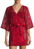 "Blush Lingerie Women's 33"" Mesh Lace Kimono"