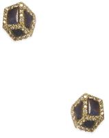 Maiyet 18K Yellow Gold & Diamond Geometric Stud Earrings