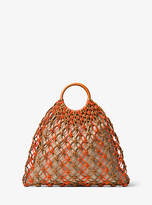 Michael Kors Cooper Woven Leather Tote