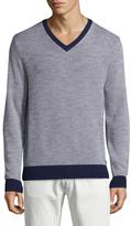 Brooks Brothers V-Neck Cotton Sweater