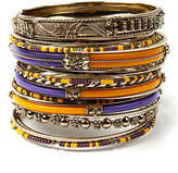 Amrita Singh Purple & Yellow Monte Carlo Bangle Set