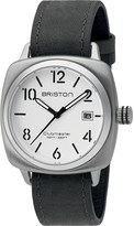 Briston 16240.S.C.2.LVB Clubmaster Classic stainless steel and leather watch