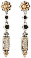 Konstantino Asteri Etched Onyx & Diamond Dangle Earrings