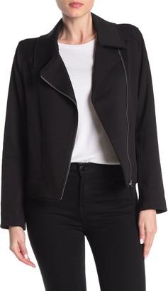 Max Studio Knit Moto Jacket