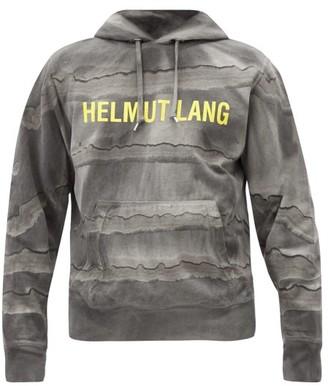 Helmut Lang Mega Marble-dyed Cotton Hooded Sweatshirt - Black Grey