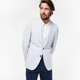 Paul Smith Men's Tailored-Fit Light Blue Linen-Blend Buggy Lined Blazer