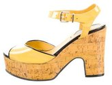 Fendi Patent Leather Platform Sandals