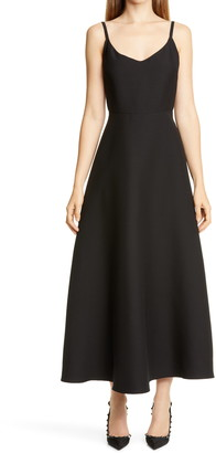 Valentino Wool & Silk Crepe Couture Midi Ballet Dress