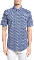 Zachary Prell Furniss Print Trim Fit Sport Shirt