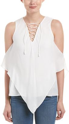 Derek Lam 10 Crosby Lace-Up Silk Tank