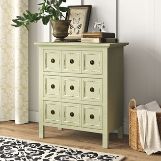 Birch Lane Geremia 3 Drawer Apothecary Accent Chest Heritage