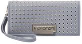 Zac Posen Earthette Microgrommet Leather Wristlet