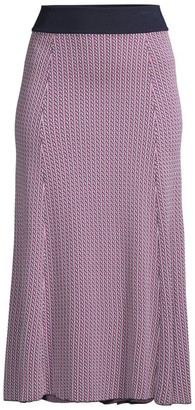 HUGO BOSS Fiabella Geometric Jacquard Knit Skirt