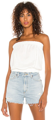 1 STATE Strapless Lace Inset Tube Top