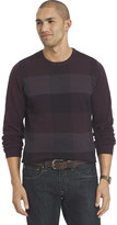 Van Heusen Big & Tall Classic-Fit Fine Gauge Plaid Crewneck Sweater