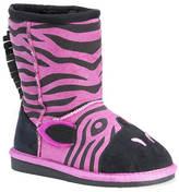 Muk Luks Ziggy Pink Zebra (Girls' Toddler)