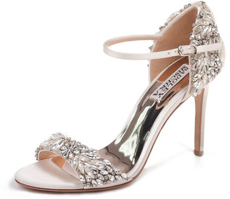 Badgley Mischka Tampa Embellished Satin Sandals
