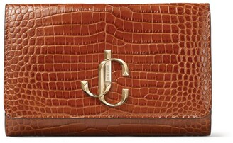 Jimmy Choo Small Croc-Embossed Leather Varenne Clutch Bag