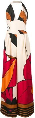 Alberta Ferretti Printed Jumpsuit