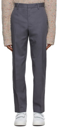 Acne Studios Grey Twill Slim-Fit Chino Trousers