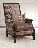 Massoud Ledecky Fabric & Leather Chair