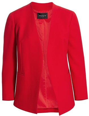 Lafayette 148 New York Lafayette 148 New York, Plus Size Miranda Finesse Crepe Open-Front Jacket