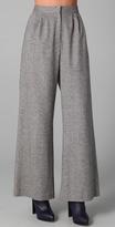 Porter Grey Wide Leg Tweed Trousers