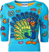 Moschino half sleeve peacock jumper - women - Cotton - 38