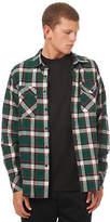 Passport New Pass Port Men's Workers Flannelette Ls Shirt Long Sleeve Cotton Green