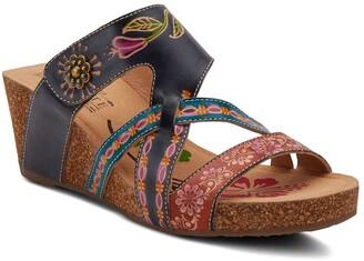 L'Artiste Swan Strappy Wedge Sandal