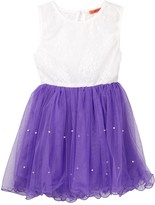 Funkyberry Lace Bodice Tulle Dress (Toddler & Little Girls)