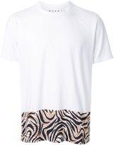 Marni printed front hem T-shirt
