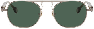Études Silver and Brown Candidate Sunglasses