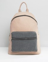 Asos LIFESTYLE Jersey Color Block Backpack