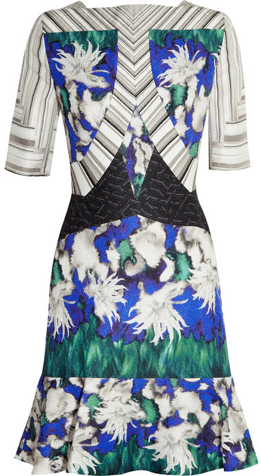 Peter Pilotto Elizabeth printed silk-blend cloqué dress
