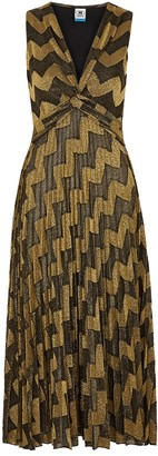 M Missoni Zigzag Metallic-knit Midi Dress