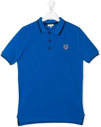 Kenzo Kids Embroidered Logo Polo Shirt