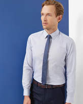Ted Baker Horizontal Striped Shirt Blue