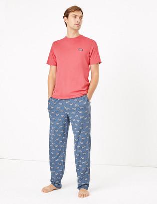 Marks and Spencer Pure Cotton Zebra Print Pyjama Set