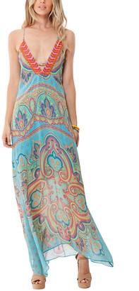 Hale Bob Sleeveless Halter Maxi Dress