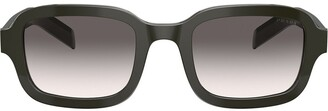 Prada Rectangular Frame Tinted Sunglasses